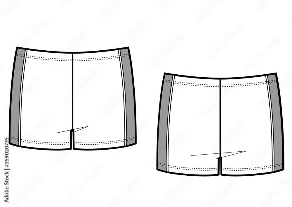 Fototapeta Mans swim wear vector template illustration