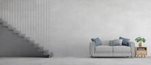 Loft Style Interior.Grey Sofa ...