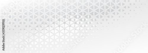 elegant subtle triangle shapes abstract banner design Billede på lærred