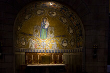 Jerusalem, Israel, January 30, 2020 : Decoratively Decorated Interior Of Dormition Abbey In Old City Of Jerusalem,