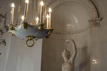 Chandelier In The Church