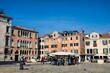 venedig, italien - campo sant angelo mit palazzo gritti morosini