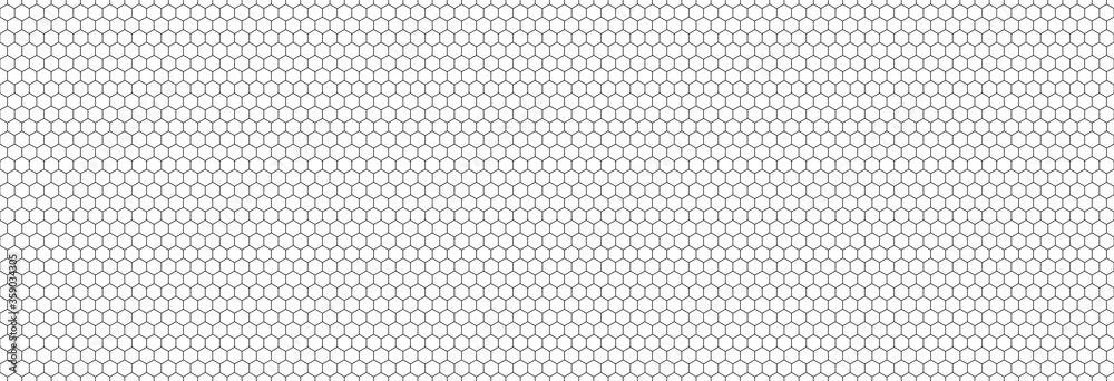 Fototapeta Honeycomb hexagon background pattern. Vector isolated texture. Comb seamless texture design. Vector hexagonal cell texture.