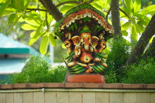 God Ganesha Statue In The Temple
