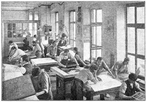 Obraz na plátně Printing presses for lithography