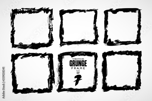 Photo Collection of frames in grunge style