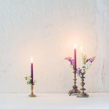 Antique Candlestick With Burni...