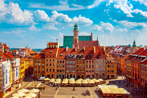 Leinwand Poster Market square in Warsaw