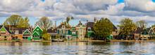 It's Typical Houses Of Zaanse Schans, Quiet Village In Netherlands