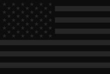 Dark Usa Flag. Stop Racism And...
