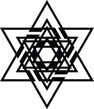 Jewish Star Of David Icon Jewi...