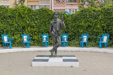 ELISTA, RUSSIA - JUNE 27, 2018: Monument To Ostap Bender In Elista, Russia