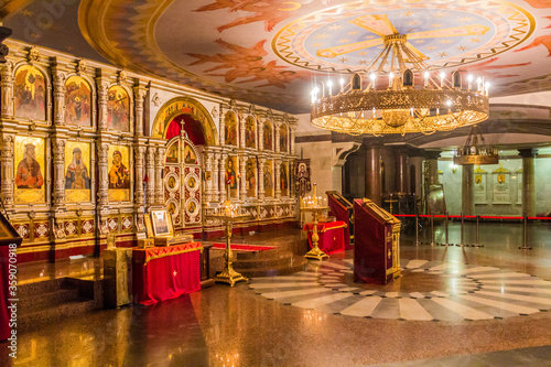 Fotomural YEKATERINBURG, RUSSIA - JULY 3, 2018: Interior of the Church on Blood in Honour
