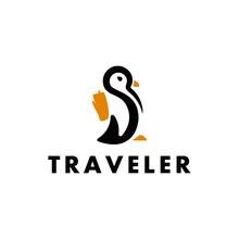 Penguin Travel Logo Design Ins...