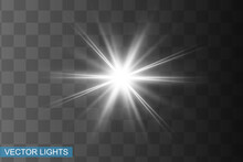 Abstract White Laser Beam. Tra...
