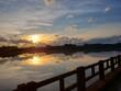 Por do Sol no rio