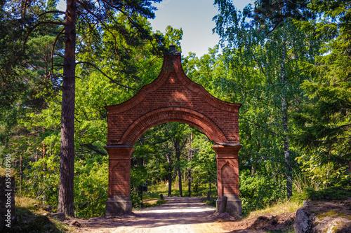 It's Religious architecture of Valaam (Valamo), an archipelago of Lake Ladoga,Republic of Karelia, Russian Federation Fototapeta