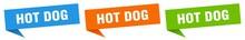 Hot Dog Banner. Hot Dog Speech...