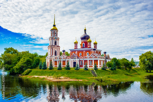 Fototapeta It's Resurection Cathedral, an orthodox church in Staraya Russa, a town in Novgo