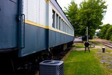 An Old Train Car That Was Conv...