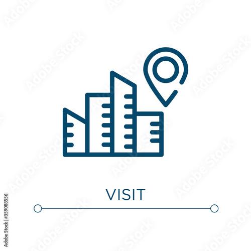 Vászonkép Visit icon
