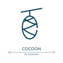 Cocoon Icon. Linear Vector Ill...