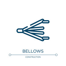 Bellows Icon. Linear Vector Il...