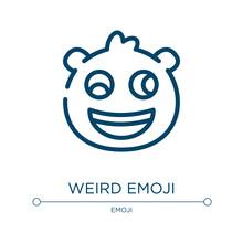 Weird Emoji Icon. Linear Vecto...