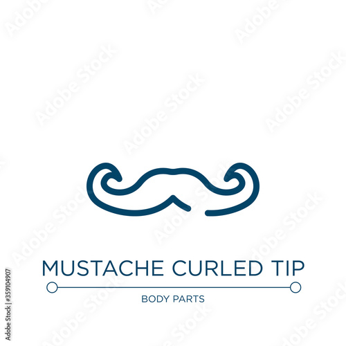 Mustache curled tip icon Wallpaper Mural