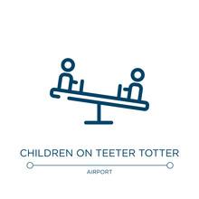 Children On Teeter Totter Icon...