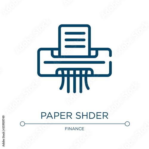 Paper shredder icon Canvas Print