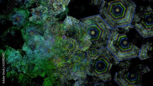 コンピュータで作られた細胞の抽象な背景 Canvas Print