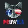 4th Of July Shirt Meowica American Flag Cat T shirt