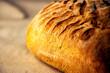 Leinwandbild Motiv Gran close-up de pan casero artesanal