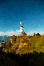 California Lighthouse - Digital Oil Painting