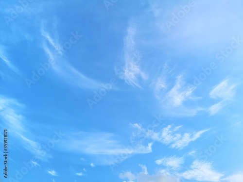 blue sky with white clouds nature background, appropriate the background , idea Canvas Print