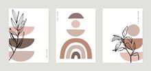 Geometric Posters Set With Geo...