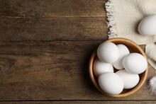 Many Fresh Raw Chicken Eggs In...