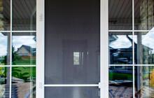 Plastic Door With Mosquito Net