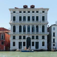 The Facade Of The Ca' Corner Della Regina On The Grand Canal, Venice, Italy