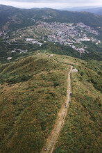 Aerial View Of Winding Path Le...