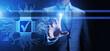 Leinwandbild Motiv Quality control assurance standards business technology concept.