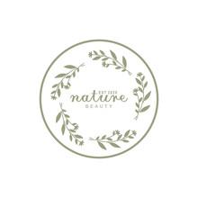 Handdrawn Flower Footstalk For Nature Stamp Logo Design