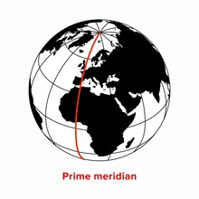 Prime Meridian, Longitude 0 Line In A Geographic Coordinate System
