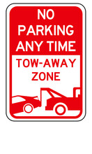 No Parking Any Time, Tow Away ...