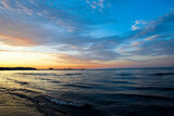Fototapeta Fototapety z morzem do Twojej sypialni - Bałtyk o zachodzie słońca