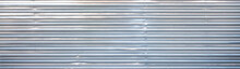 Iron Wall. Corrugated Iron. Galvanized Iron Wall Plate Background. Sheet Wall Panel. Sheet Metal With Little Light