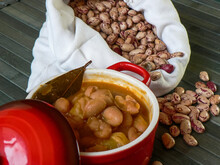 Pinto Beans With Chorizo In A ...