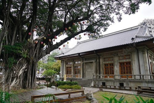 Valokuva Taichung, Taiwan - 2 November 2018: Capture the architecture of Natural Way Six Arts Center, a place for Japanese wardens and police officers to practice martial art built in 1937