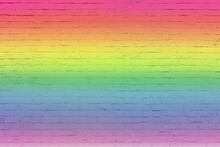 Colored Rainbow Of Grunge Wall...